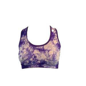 Ideology Blue Tie Dye Sports Bra